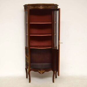 Antique French Ormolu Mounted Painted Display Cabinet