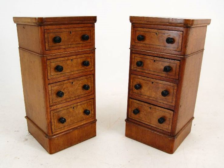 Pair of Antique Pollard Oak Bedside Chests