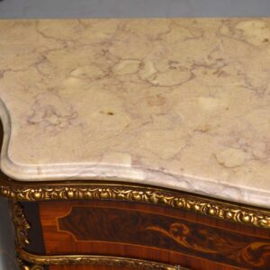Antique French Marble Top Cabinet