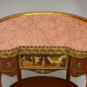 Pair of Antique French Style Marble Top Side Tables