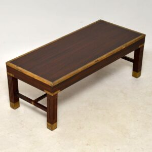 Antique Mahogany & Brass Coffee Table