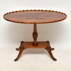 Antique Regency Style Yew Wood Coffee Table