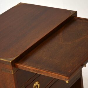 Antique Campaign Style Mahogany Cabinet
