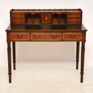 Antique Inlaid Mahogany Bonheur Du Jour Desk