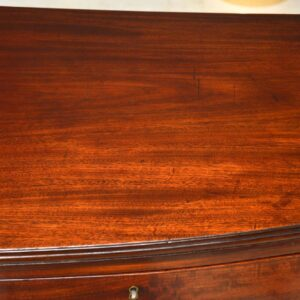 Antique Georgian III Mahogany Bow Fronted Chest of Drawers