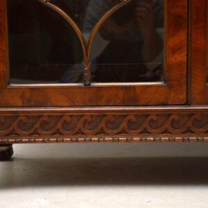 Antique Mahogany Astral Glazed Display Cabinet
