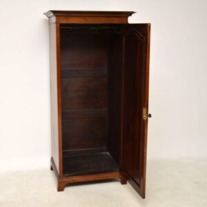 Antique Edwardian Mahogany Hall Cupboard / Wardrobe