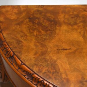 Antique Burr Walnut Console Side Table