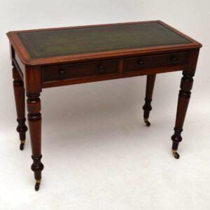 Antique Victorian Mahogany Writing Table / Desk