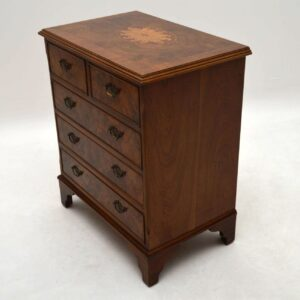 Antique Burr Walnut Inlaid Chest of Drawers