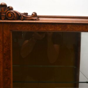 Antique Burr Walnut Display Cabinet