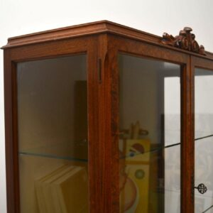 Antique Burr Walnut Display Cabinet