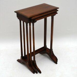 Antique Regency Style Mahogany Nest of Tables