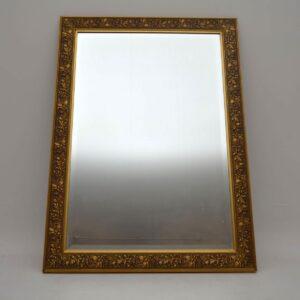 Large Antique Gilt Framed Bevelled Mirror