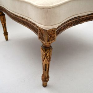 Antique French Gilt Wood Stool