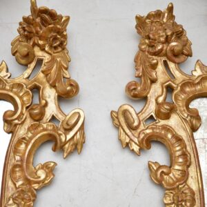 Pair of Antique French Gilt Wood Mirrors