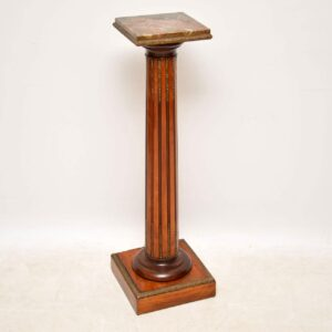 Antique Marble Top Pedestal Column