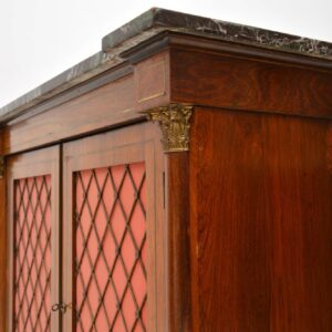 Antique Regency Marble Top Rosewood Cabinet