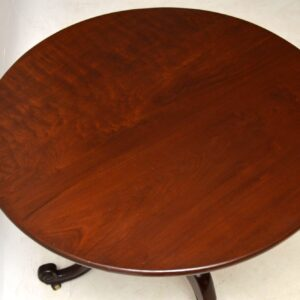 Antique George III Mahogany Tripod Table