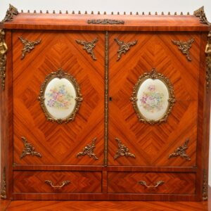 Antique French Inlaid King Wood Bonheur Du Jour