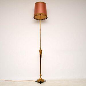 Antique French Gilt Metal Telescopic Standard Lamp