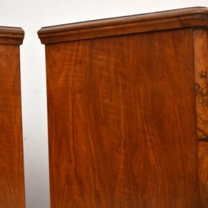 Pair of Antique Victorian Burr Walnut Bedside Chests