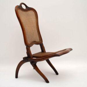 Antique Victorian Mahogany Folding Chair