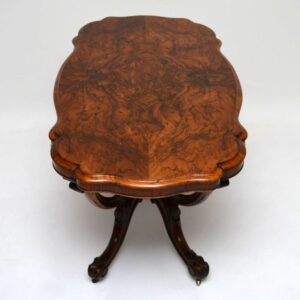 Antique Victorian Burr Walnut Centre Table