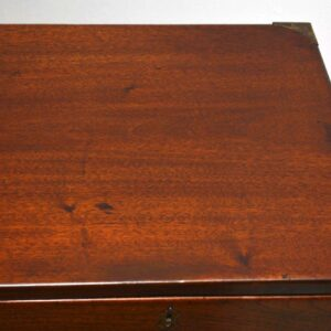 Antique Victorian Mahogany Campaign Chest of Drawers