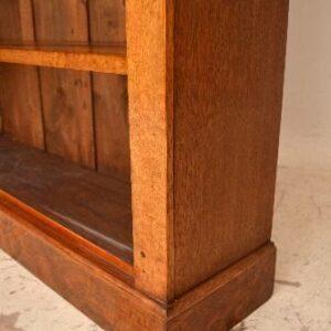 Antique Pollard Oak Open Bookcase