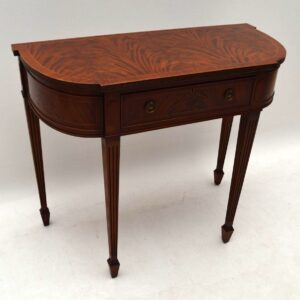 Antique Mahogany Console Side Table