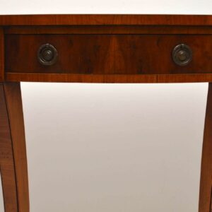 Antique Yew Wood Console Side Table