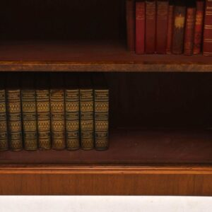 Antique Victorian Burr Walnut Open Bookcase