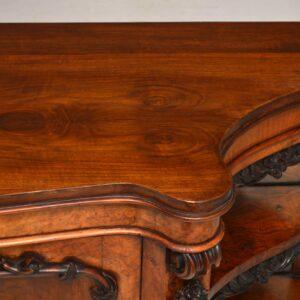 Antique Victorian Walnut Sideboard Credenza
