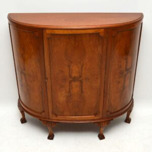 Antique Bow Fronted Walnut Cabinet