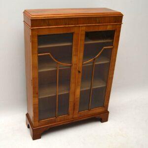 Antique Walnut Two Door Bookcase