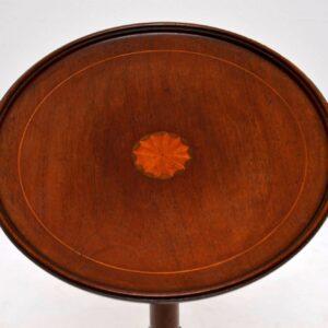 Antique Edwardian Inlaid Mahogany Wine Table