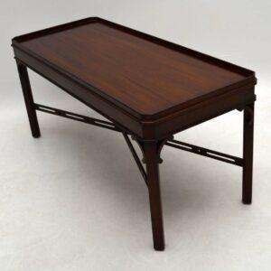 Antique Georgian Style Mahogany Coffee Table