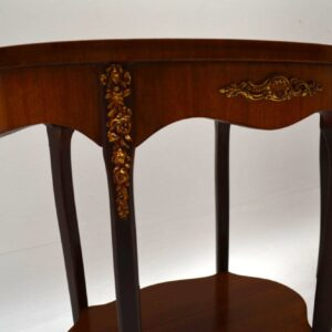 Pair of Antique French Walnut Side or Lamp Tables