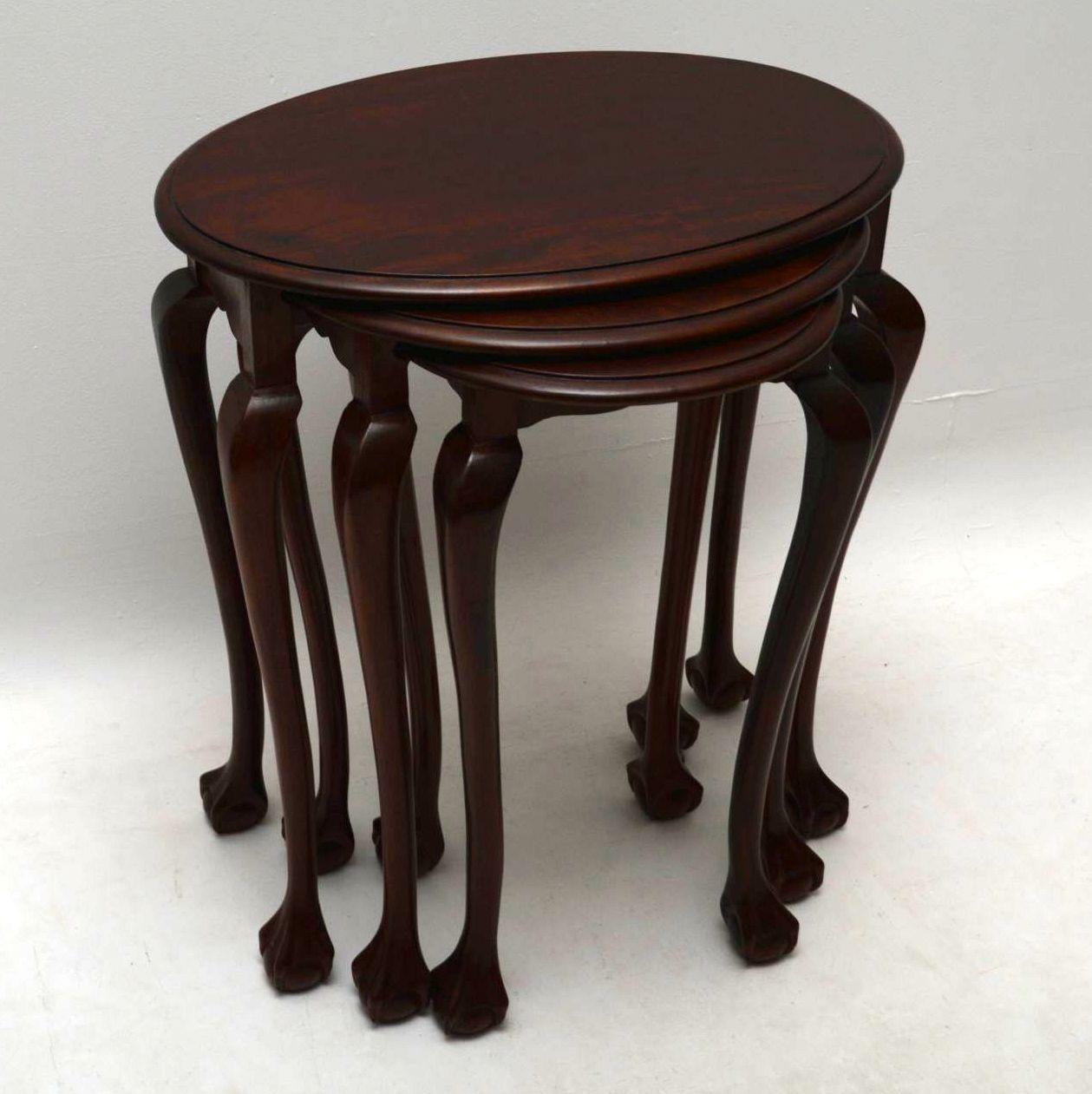 Antique Mahogany Nest of Tables
