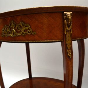 Pair of Antique French Parquetry Top Tables