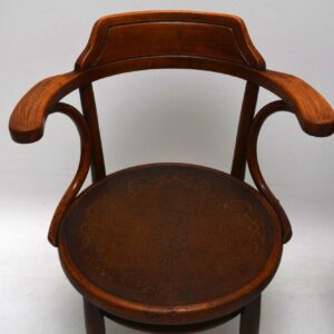 Pair of Antique Bentwood Armchairs by Thonet