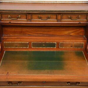 Antique French Tambour Top Writing Bureau