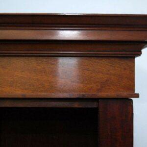 Large Antique Mahogany Open Bookcase