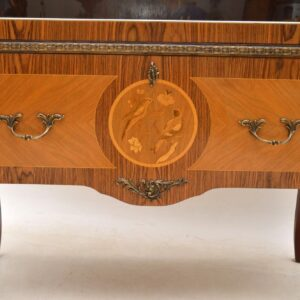 Antique Swedish Inlaid Marquetry Display Cabinet