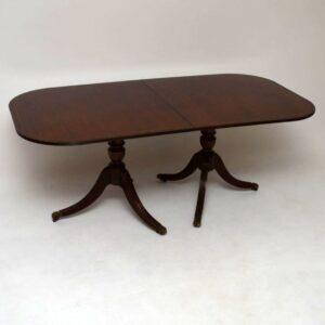Antique Regency Style Mahogany Dining Table