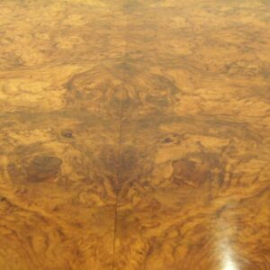 Antique Victorian Burr Walnut Oval Dining Table