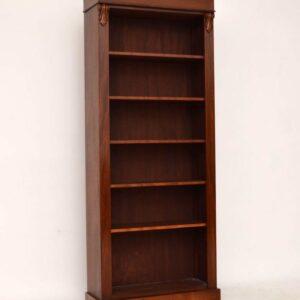 Reconstructed Antique Victorian Mahogany Open Bookcase
