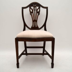 Set of 8 Antique Adam Style Mahogany Dining Chairs