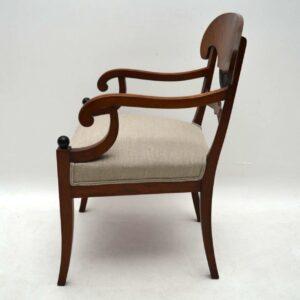Pair of Antique Swedish Biedermeier Armchairs
